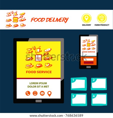 Food Service Template Logo Banner Poster Stock Vector Royalty Free