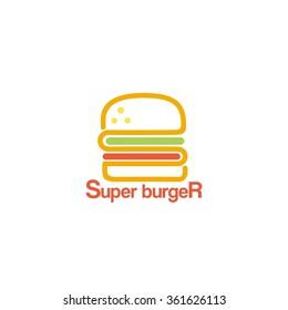Food service vector logo. fast food restaurant. design template