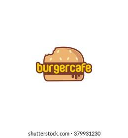 Food service vector logo. Fast food, burger and restaurant logo. Flat Style Design