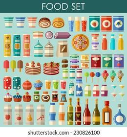 Food set. vector