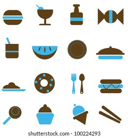 food silhouettes to be used for food industry, background and others