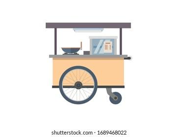 Food stall. Simple flat illustration