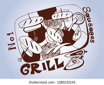 food still life  illustration