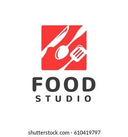 food studio vector logo kitchen tools food icon cooking logo restaurant vector - Kitchen Logo