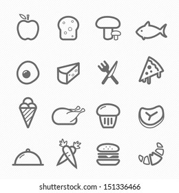 Food symbol line icon on white background vector illustration