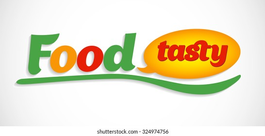 food, tasty. yummy symbols and logos. food icons.