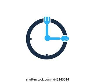 Food Time Icon Logo Design Element