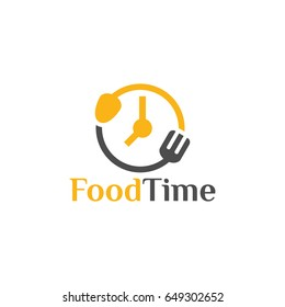 food time logo design template, vector illustration