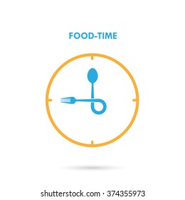 Food Time,Lunch Time icon.Eating time concept.Fork and spoon sign.Can be used for layout, banner and web design. Vector illustration.