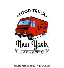 Food truck emblem.