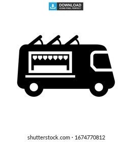 food truck icon or logo isolated sign symbol vector illustration - high quality black style vector icons