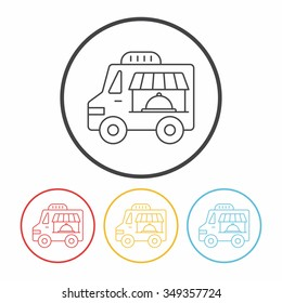 food truck line icon