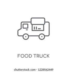 Food truck linear icon. Modern outline Food truck logo concept on white background from United States of America collection. Suitable for use on web apps, mobile apps and print media.
