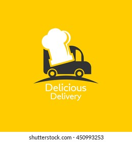 Food Truck Logo Design template. Vector Illustration