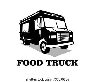 Food truck logo template vector