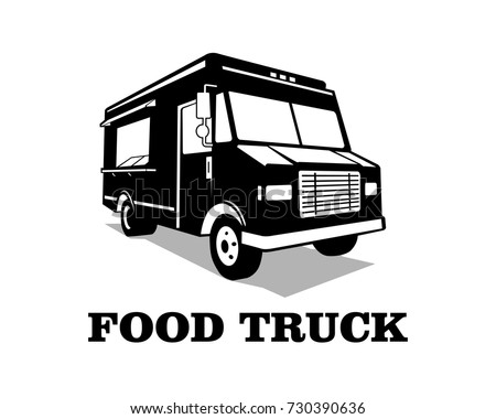food truck logo template vector stock vector royalty free