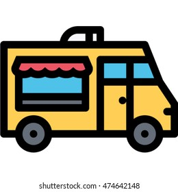 food truck outline icon