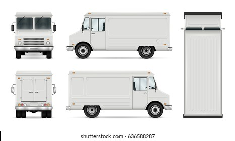 similar images stock photos vectors of blank food truck hidetailed vector template. Black Bedroom Furniture Sets. Home Design Ideas