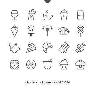 Food UI Pixel Perfect Well-crafted Vector Thin Line Icons 48x48 Ready for 24x24 Grid for Web Graphics and Apps with Editable Stroke. Simple Minimal Pictogram Part 2-3