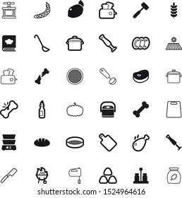 food vector icon set such as: eating, simple, raw, multi, ear, cereals, pea, knives, chop, tenderizer, pod, frame, chicken, dish, sugar, chrome, morning, cleaning, decoration, book, closeup, steam