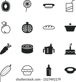 food vector icon set such as: loaf, box, super delicious, healthy food, baguette, flakes, cuisine, lunch, cream, fish, plum, mustard, product, maternal, saucepan, color, chef, kid, french, cute