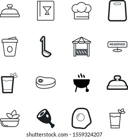 food vector icon set such as: charcoal, clothing, landscape, cappuccino, lettuce, style, board, delicatessen, pergola, cut, chopping, soup, reserve, chefs, bakery, barbecue, lunch, surface, diet, tea