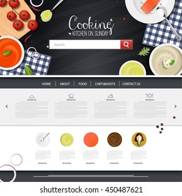 food website design template vector.