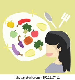 foods for healthy have Vegetables and fruits  before cooking