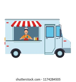 Foodtruck restaurant isolated