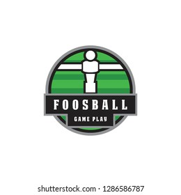 foosball badge emblem in circle shape logo icon vector template