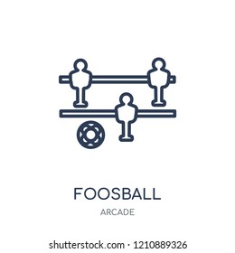 Foosball icon. Foosball linear symbol design from Arcade collection.