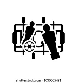 foosball icon, vector illustration