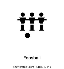 Foosball icon vector isolated on white background, logo concept of Foosball sign on transparent background, filled black symbol