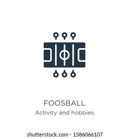 Foosball icon vector. Trendy flat foosball icon from outdoor activities collection isolated on white background. Vector illustration can be used for web and mobile graphic design, logo, eps10