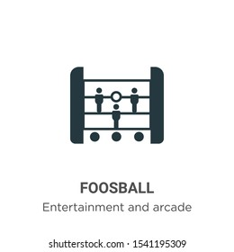 Foosball vector icon on white background. Flat vector foosball icon symbol sign from modern entertainment and arcade collection for mobile concept and web apps design.