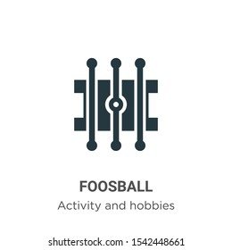 Foosball vector icon on white background. Flat vector foosball icon symbol sign from modern outdoor activities collection for mobile concept and web apps design.