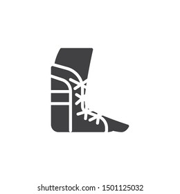 Foot ankle brace vector icon. filled flat sign for mobile concept and web design. Orthopedic Ankle Bandage glyph icon. Symbol, logo illustration. Vector graphics