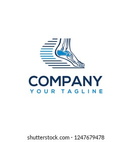 foot and ankle logo template