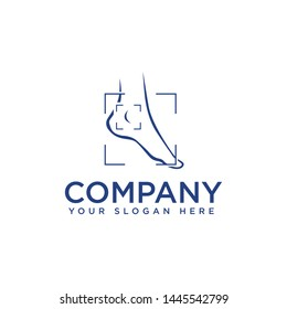 Foot and ankle podiatry vector logo design