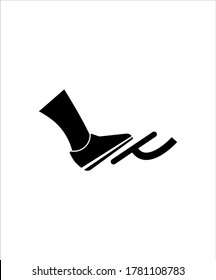 foot with brake icon,vector best flat icon.