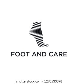 Foot and care icon logo template, Foot and ankle healthcare - Vector