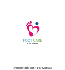 Foot Care icon logo template vector illustration