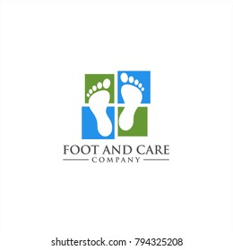 Foot and care icon logo template, Foot and ankle healthcare