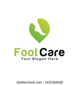 Foot Care logo design template