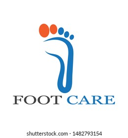 foot care Logo design vector icon  Template