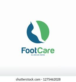 Foot Care logo designs concept vector, Iconic Foot Logo designs template