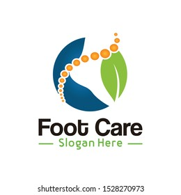 Foot Care Logo and Nature Foot Logo Template vector illustration