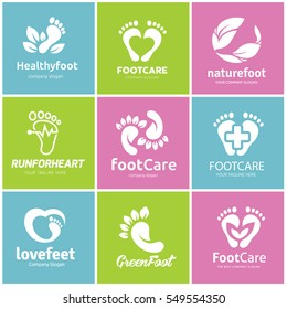 Foot care logo set