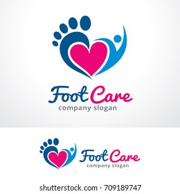 Foot Care Logo Template Design Vector, Emblem, Design Concept, Creative Symbol, Icon