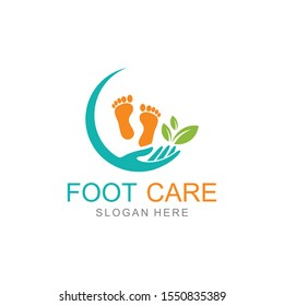 Foot care Vector logo design template